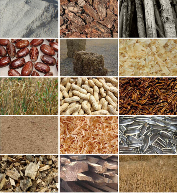 raw materials for pellet machine