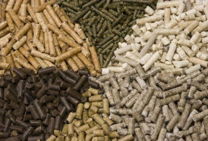 Biomass pellets reduce atmospheric pollution