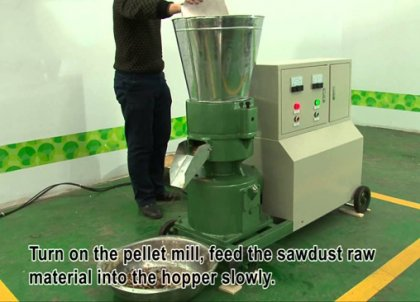 How to operate small wood pellet machine?
