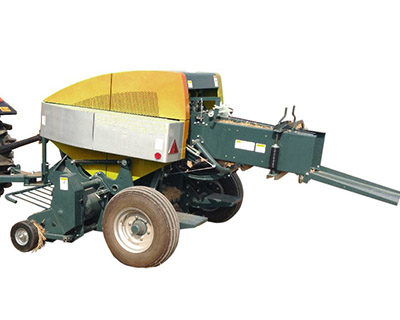 Square Baler With Tractor