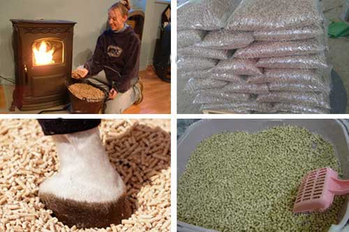 pellets made by gasoline pellet machine application