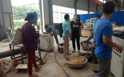 Malaysia customers came to our company to order pellet machine